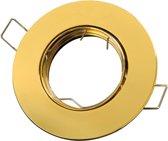 LED line Inbouwspot - Rond - Kantelbaar - GU5.3 Fitting - Ø 92 mm - Goud