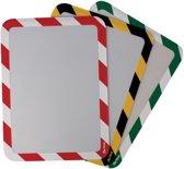 3x Tarifold tas met magnetische strips, A4, rood/wit, pak a 2 stuks