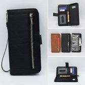 H.K. boekhoesje zwart met rits + portemonnee geschikt voor Apple Iphone Xs Max