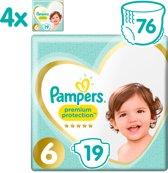 Pampers Premium Protection - Maat 6 (13+ kg) -  76 luiers (4x19)