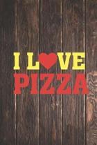 I Heart Love Pizza - Pizza Lovers Journal