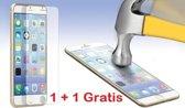 GRATIS 1 + 1     iPhone 6 / 6S  Glazen tempered glass / Screen protector 2.5D 9H (0.3mm)