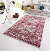 Design Vloerkleed Glorious 160x230 cm Violet & Wit