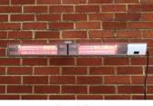 3kW Dubbele Spatwaterdichte Halogeen Infrarood Terrasverwarmer met Afstandsbediening