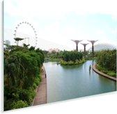 Overzicht van Gardens by the Bay in Singapore Plexiglas 30x20 cm - klein - Foto print op Glas (Plexiglas wanddecoratie)