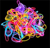 ProductGoods - 1000x Kleine elastiekjes Oranje/Multicolor
