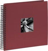 Hama Fine Art spiraal bordeaux 36x32 50 zwarte pagina's 090144
