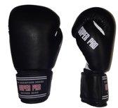 Super Pro Basic Gloves - Black / White-18 oz.
