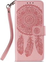 Shop4 - Samsung Galaxy S9 Hoesje - Wallet Case Dromenvanger Roze