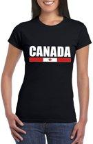 Zwart Canada supporter t-shirt voor dames L
