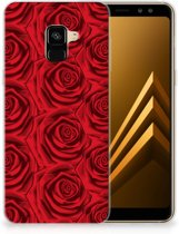 Samsung Galaxy A8 Plus (2018) TPU Case Rood Rose