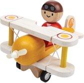 PlanToys Klassiek Vliegtuig met piloot