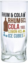 Durobor Rum Cola Glas - 0.27 l - 6 stuks