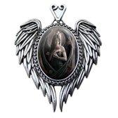 Anne Stokes Cameo Pendant Angel Rose