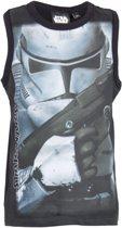 Star Wars shirt/singlet zwart-grijs maat 110/116