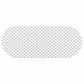 MixMamas Tafelzeil Ovaal - 140 x 300 cm - Stippen - Wit/Zwart