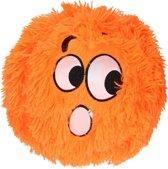 Knuffelbal Fuzzy Met Gezichtje Pluche Oranje 25 Cm