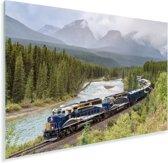 Trein in een kleurrijke omgeving Plexiglas 90x60 cm - Foto print op Glas (Plexiglas wanddecoratie)