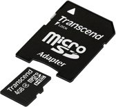 Transcend Micro SD(HC)-kaart - Class 4 - 4GB - met 1 adapter