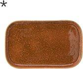 Bloomingville - Dienblad - Stoneware - L36xH2.5xB22.5 cm - Oranje