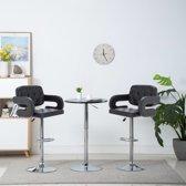 Barstoel draaibaar 54x58x115 cm kunstleer zwart 2 st