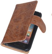 Bestcases Vintage Bruin Bookstyle Cover Nokia Lumia 625