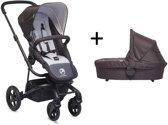 Easywalker Harvey - Kinderwagen inclusief reiswieg | voetenzak | adapter | hoogte adapter - All Black