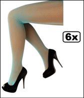 6x Netpanty fluo blauw one size