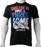 Adidas G Tee X34444, Mannen, Zwart, T-shirt maat: XS EU
