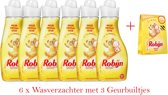 Robijn Zwitsal wasverzachter - 6 x 750 ml + doosje Robijn Zwitsal Geurbuiltjes