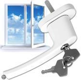 2 Vensterhandvat raambeslag raamgreep afsluitbaar wit 400897