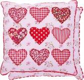 Sierkussen - 100% katoen - Harten - Hearts - 30 x 30 cm