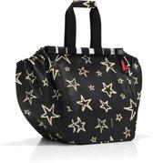 Reisenthel Easyshoppingbag - Boodschappentas voor winkelwagen - Opvouwbaar - Polyester - 30L - Stars Zwart