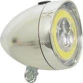 Dresco Classic LED COB Koplamp Fiets - Chroom