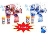 Bellenblaas pistool (2 stuks set) |speelgoed bellenblaas (incl. batterijen)
