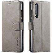 Huawei P30 Hoesje - Luxe Book Case - Grijs