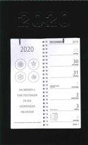 Omlegweekkalender Zwart 2020 - Fluor - 21 x 34 cm