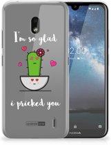 Nokia 2.2 Telefoonhoesje met Naam Cactus Glad