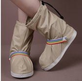 LAKE SIDE Rain Shoe Cover with strap beige M