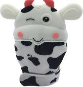Markuscha Toys Bijthandschoen - Koetje wit - Bijt - speelgoed - handschoen - bijtring - speelgoed - kraamcadeau
