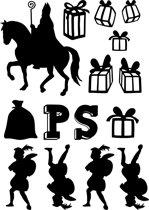 Uitbreidingsset stickers Sinterklaas, HERBRUIKBAAR