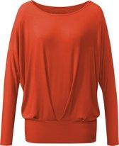 Yoga-shirt pleats, lange mouwen - paprika M Loungewear shirt YOGISTAR
