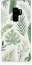 Samsung Galaxy S9 Plus Uniek Standcase Hoesje Leaves