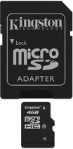 Kingston micro SD kaart 4 GB