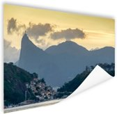 Hoge bergtoppen Rio de Janeiro Poster 60x40 cm - Foto print op Poster (wanddecoratie)