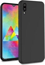 Ntech Samsung Galaxy M10 Hoesje Silicone Hoesje Flexible & Scratch Resistent TPU Case - Zwart
