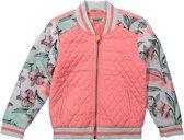 DJ Dutchjeans Meisjes Zomerjas - Faded pink + light grey melee + aop - Maat 158