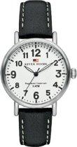 River Woods RW340011 Vermillion horloge Vrouwen - Zwart - Leer 34 mm