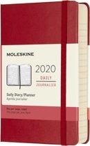 Moleskine 12 Maanden Agenda 2020 - Dagelijks - Pocket (9x14 cm) - Scarlet Red - Harde Kaft
