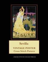 Sevilla: Vintage Poster Cross Stitch Pattern